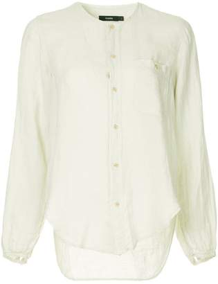 Bassike collarless plain shirt