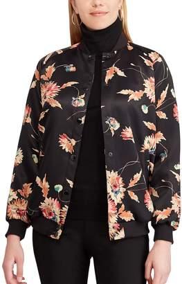 Chaps Women's Floral Bomber Jacket