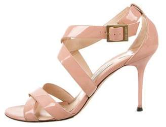Jimmy Choo Patent Leather Strap Sandals Patent Leather Strap Sandals