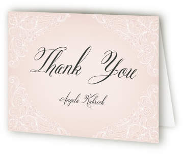 Elegant Lace Bridal Shower Thank You Cards