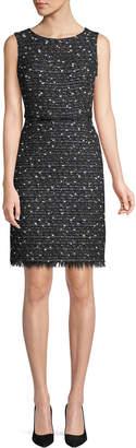 Giambattista Valli Sleeveless Tweed Sheath Dress