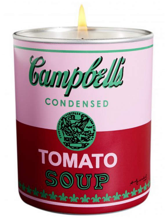 Thompson Ferrier Andy Warhol Pink and Red Campbell's Soup Candle