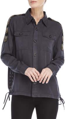 Pam & Gela Beaded Shoulder Shirt