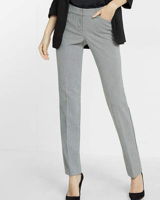 Express Low Rise Houndstooth Straight Leg Editor Pant
