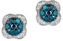 LeVian 14K Vanilla Gold Vanilla & Blueberry Diamond Exotics Earrings