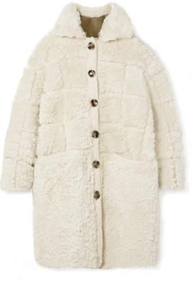 Ulla Johnson Ellaria Reversible Crochet-trimmed Shearling Coat - Ecru