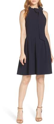 Vince Camuto Kors Crepe Fit & Flare Dress