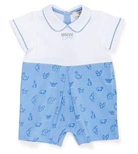 Armani Junior Short Sleeve Logo Romper