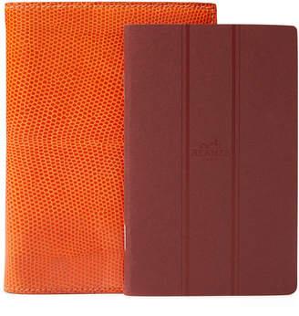 Hermes Orange Lizard Notebook