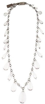 prada Prada Long Crystal Station Necklace