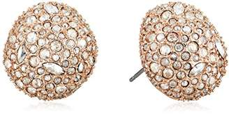 Alexis Bittar Organic Pod Shape Crystal Encrusted Button Post Stud Earrings