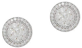 Affinity Diamond Jewelry Diamond Cluster Stud Earrings, 1.00ct, 14K,by Affinity