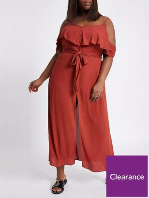 River Island RI Plus Maxi Dress- Red
