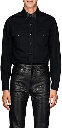 Saint Laurent Men's Denim Shirt - Black