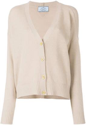 Prada fine knit cashmere cardigan