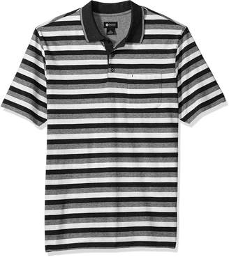 Haggar Men's Jersey Bold Stripe Polo
