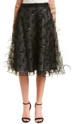 Sachin + Babi Noir Silk A-Line Skirt
