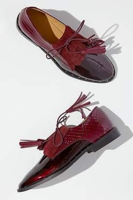 Rogue Matilda Anissa Textured Patent-Leather Brogues