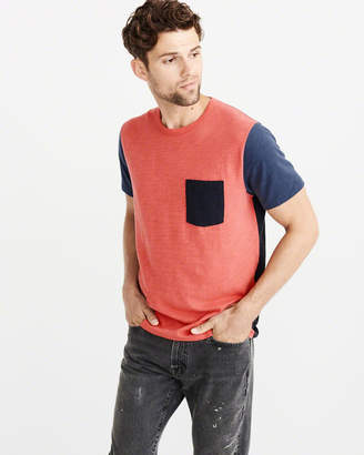 Abercrombie & Fitch Colorblock Pocket Tee