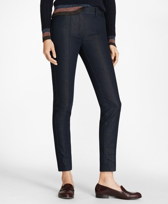 Brooks Brothers Petite Denim Ankle Pants