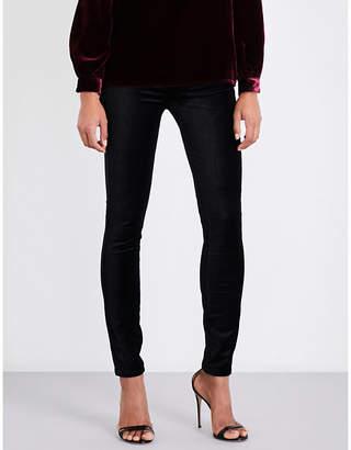 Paige Edgemont ultra-skinny high-rise velvet jeans