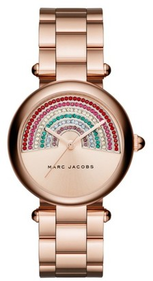 Women's Marc Jacobs Dotty Crystal Bracelet Watch, 34Mm