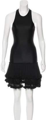 Thomas Wylde Ruffle-Accented Sleeveless Dress