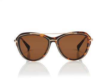 Blanc Eclare Marrakesh Honey Tortoise And Gold Metal With Solid Brown Lens