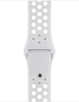 Apple 38mm Pure Platinum/White Nike Sport Band – S/M & M/L