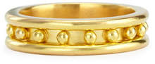 Elizabeth Locke 19k Gold Granulated Stack Ring