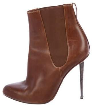 Tom Ford Pointed-Toe Leather Ankle Boots