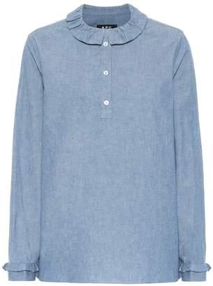 A.P.C. Agatha denim long sleeved top
