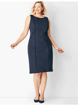 Talbots Italian Luxe Knit Herringbone Sheath Dress