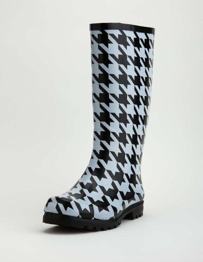 Houndstooth Rain Boot