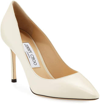 Jimmy Choo Romy Pointed Kid Leather Pumps