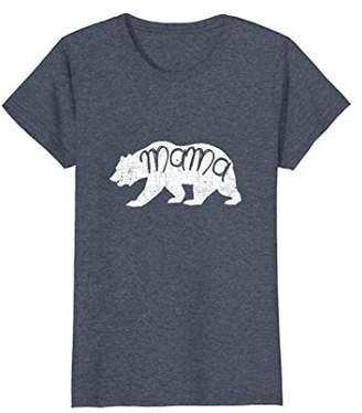 Womens Mama Bear Distressed T Shirt