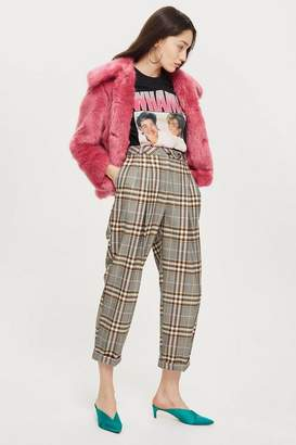 Topshop Checked Mensy Trousers