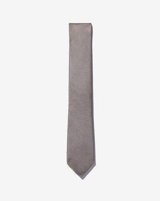 Express Narrow Textured Solid Silk Tie