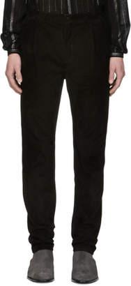 Saint Laurent Black Suede Trousers