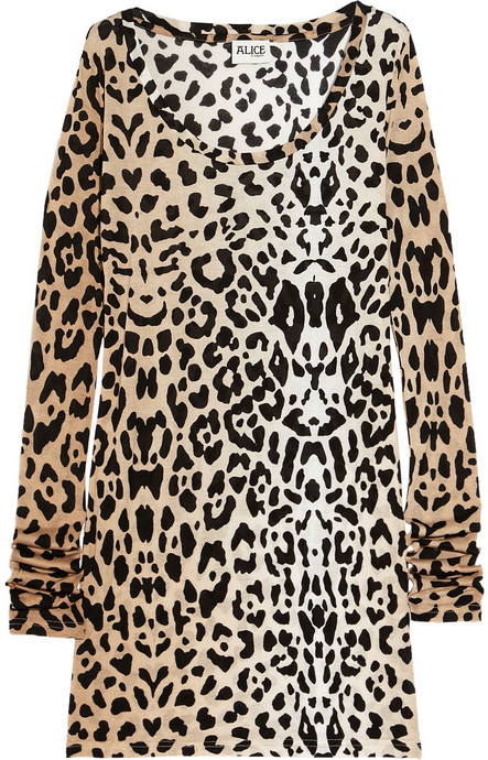 ALICE by Temperley Renaissance leopard-print jersey top