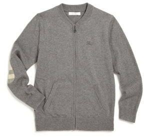 Burberry Little Boy's & Boy's Core Cotton Bomber Jacket $150 thestylecure.com