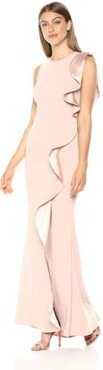 Carmen Marc Valvo Women's Gown Ruffle Flounce