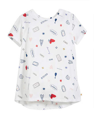 Kate Spade Doodle Cotton Jersey Tee, Size 7-14
