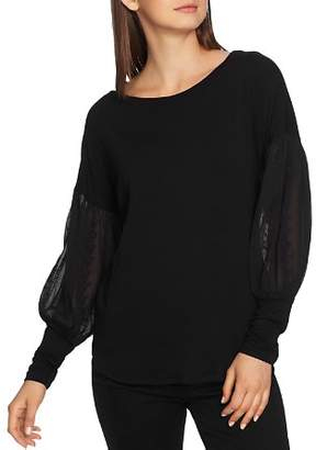1 STATE 1.STATE Embroidered Sleeve Sweater