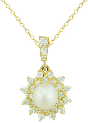 JCPenney FINE JEWELRY Petite Lux Cultured Freshwater Pearl Starburst Pendant Necklace