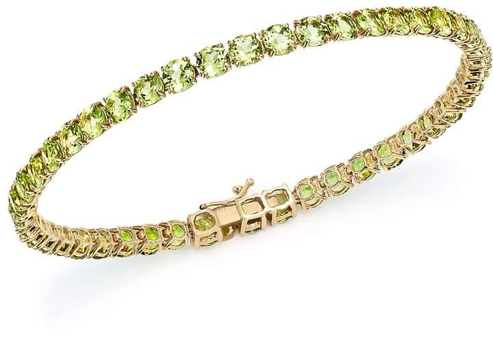 Peridot Tennis Bracelet in 14K Yellow Gold - 100% Exclusive