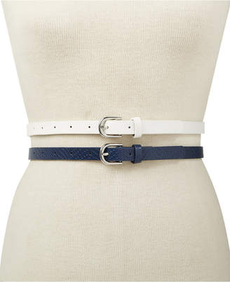 INC International Concepts I.N.C. 2-for-1 Solid Belts, Created for Macy's