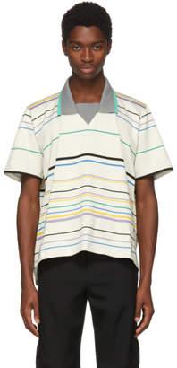Lanvin Beige Striped Polo