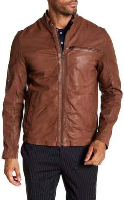 Cole Haan Goat Leather Zip Front Jacket
