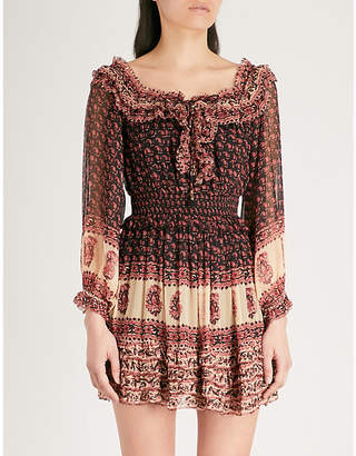 Zimmermann Jaya frilled silk-chiffon mini dress